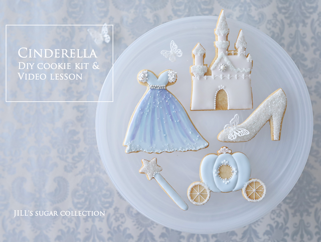"""Cinderella"" DIY cookie kit & video lesson"