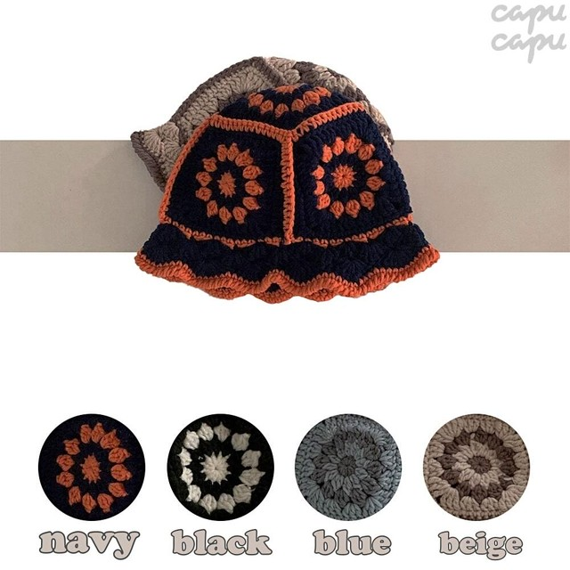 «sold out» knit bucket hat  ニットバケットハット