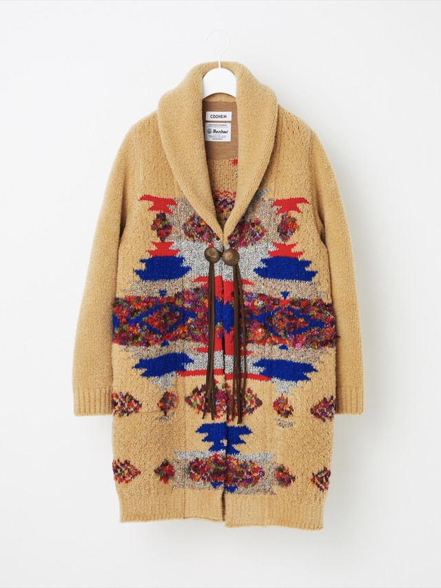 【COOHEM  UNISEX】NATIVE JACQUARD COAT