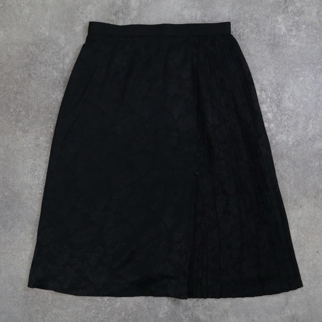 Black Flower retro skirt