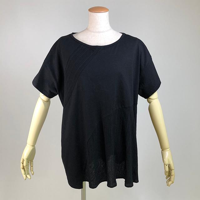切替ビックTシャツ/BK/KUD24-T005