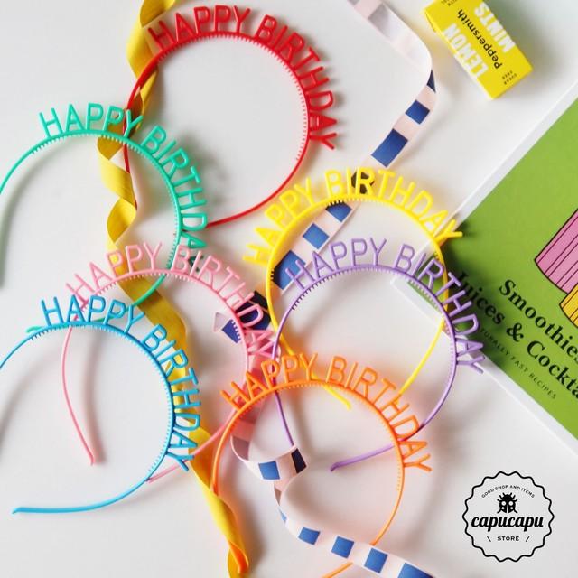 «即納» happy birthday カチューシャ