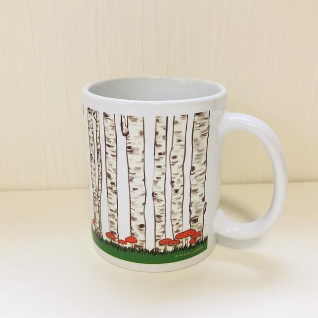 マグカップ『白樺の森』(白)受注生産・送料込