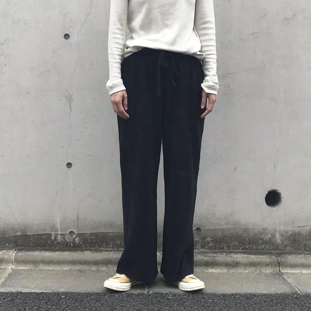 Liyoca コットンモールパンツ BLK【19AW】