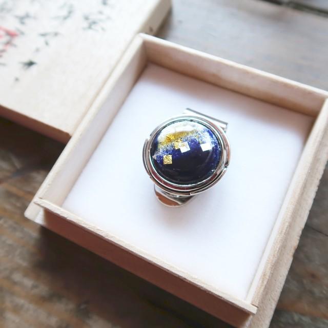 ゴルフマーカー 「紺 色映え」七宝マーカー グリーン上の宝石