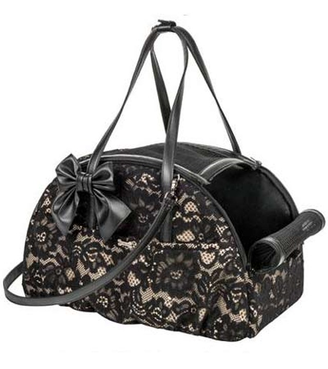 【20%オフ+送料無料★即納MINI】FOR PETS ONLY ARIA BAG BLACK LACE ECOLEATHER (PE2019-B2)