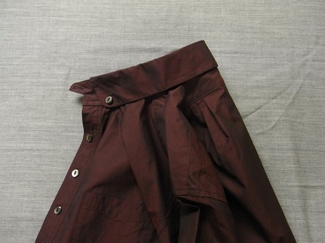 anotherline roundcollar b.d. shirt / deepwine