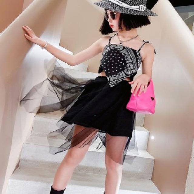120~170cm ★ セットアイテム スカーフトップス チュールスカート 衣装