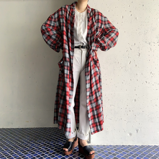 old vintage rayon gown