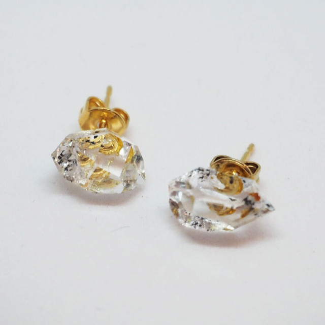 【if】herkimer diamond piece ピアス/イヤリング