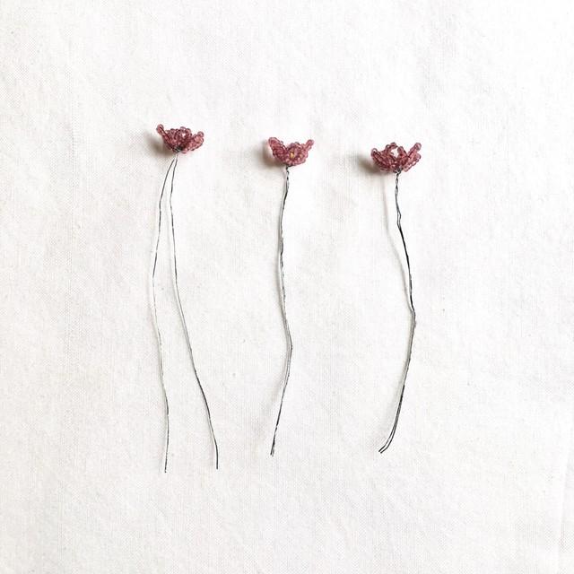 フランスワイヤービーズ パープル (造花)