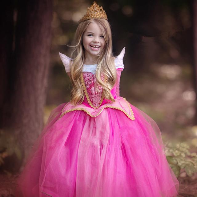 【オーロラ姫風ドレス キッズ プリンセスドレス】ピンク ブルー 衣装 子供 女の子 子ども コスプレ なりきり 仮装 コスチューム オーロラドレス お姫様 TDL 発表会 誕生会 小学生 誕生日 クリスマス プレゼント 110cm 120cm 130cm 140cm 150㎝ 4歳 5歳 6歳 7歳 8歳 9歳 送料無料