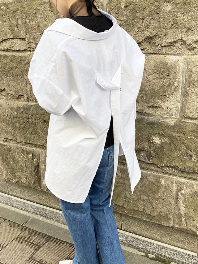 バックポイントシャツ[Color:ホワイト]
