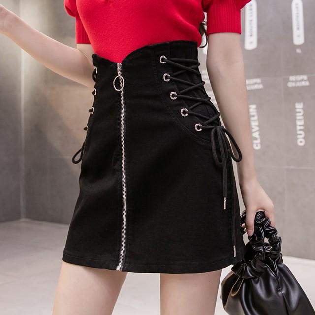 【ボトムス】韓国系膝上ハイウエストAラインスカート33014231