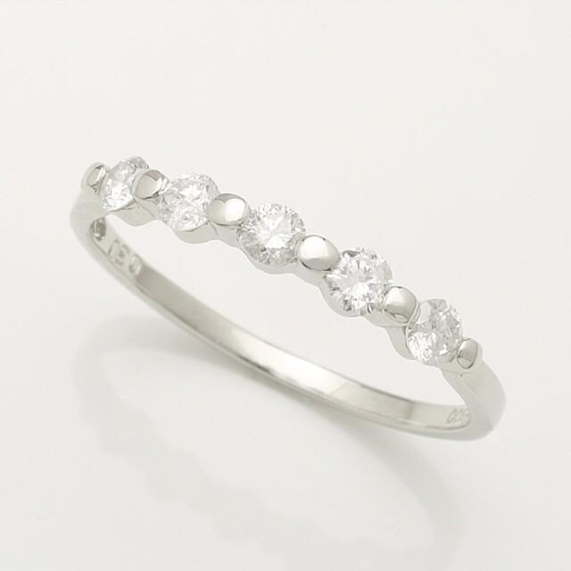 上質天然ダイヤがキラリと輝くダイヤモンド リング♪ 0.30ct K18WG