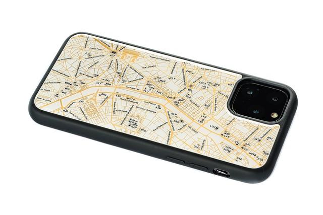 FLASH Paris回路地図 iPhone 11 Pro ケース  白【東京回路線図A5クリアファイルをプレゼント】