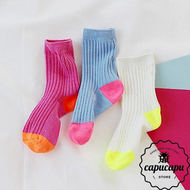 [予約] neon painting socks set ネオン ソックス 3足SET