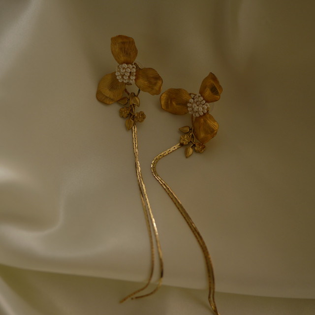 【2way】vintage floral chain flower large