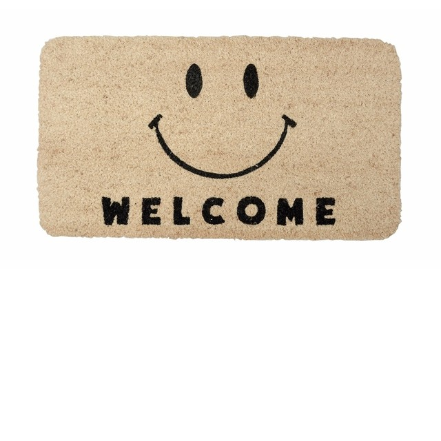 ウェルカム welcome スマイル コイヤーマット 玄関マット