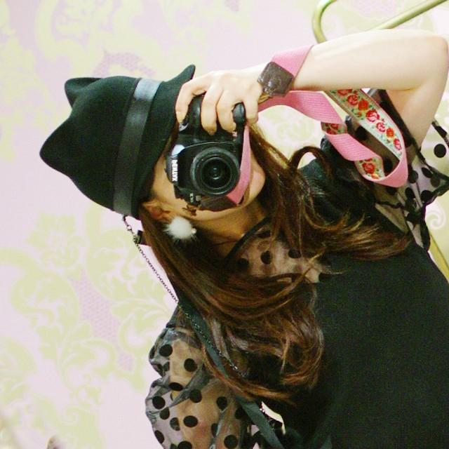 【帽子】ポンポン付き 猫耳キャットハット
