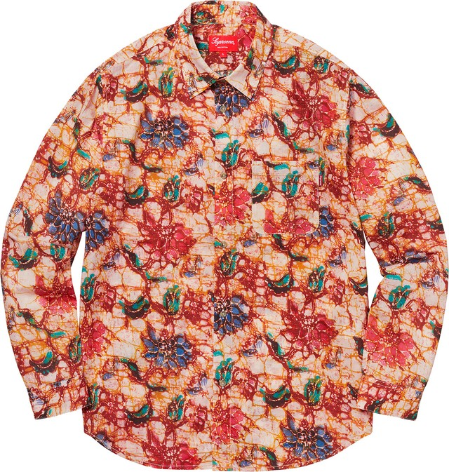 Supreme Acid Floral Shirt 長袖シャツ