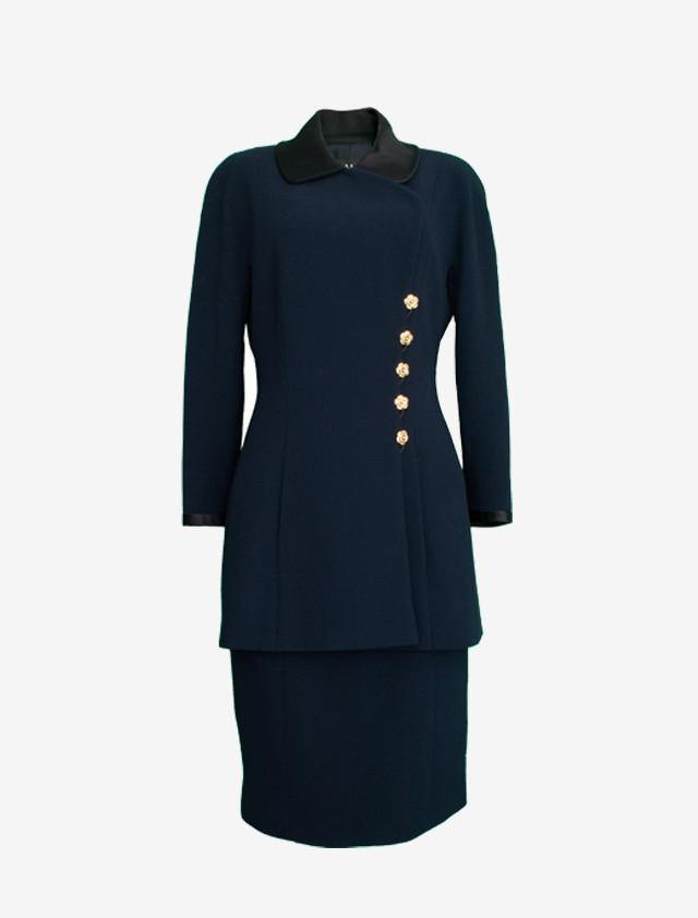 CHANEL シャネル  セットアップ スーツ サテンカラー ジャケット スカート