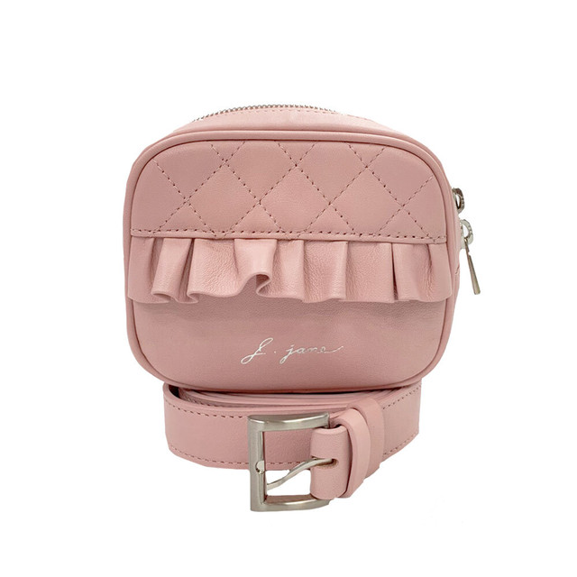 Frill camera bag(Pink/White/Black)