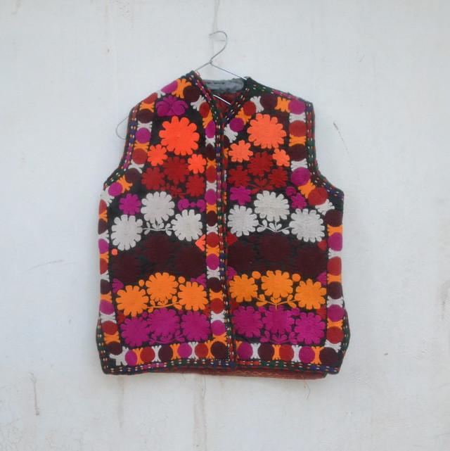 Vintage タジキスタン 刺繍のベスト