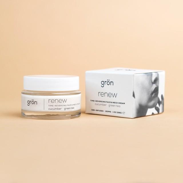 グロン フェイス & ネック クリーム /renew: time-reversing face & neck cream