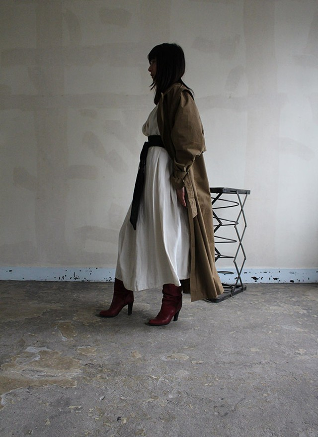 80s french vintage trnch coat