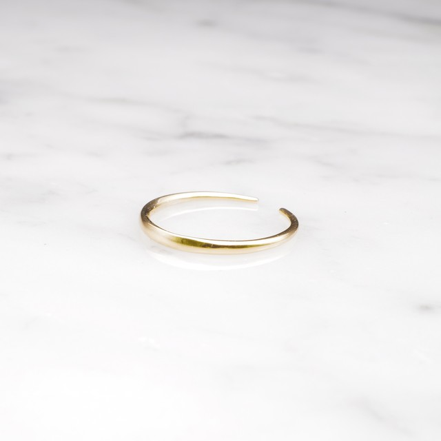 S925 THIN OPEN RING GOLD