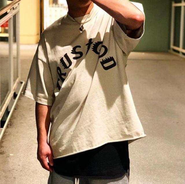 Back circle print over size T-shirts LD0651
