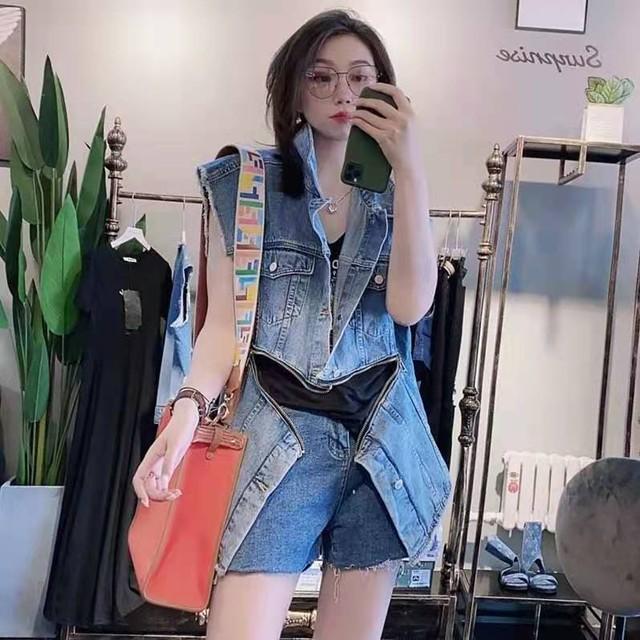 【アウター】デニムファッションファスナー個性的人気ベスト44699638