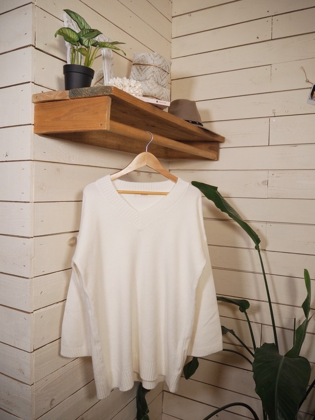 Vneck Loose Knit《WHT》20383142