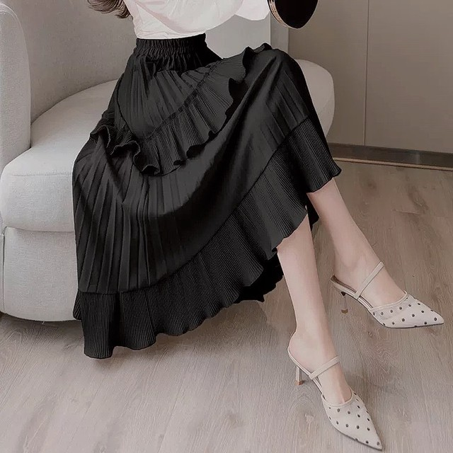lady frill skirt 2color