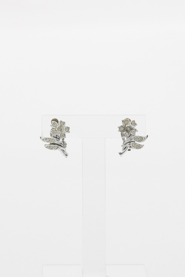 【Run Rabbit Run Vintage 】Silver flower earring