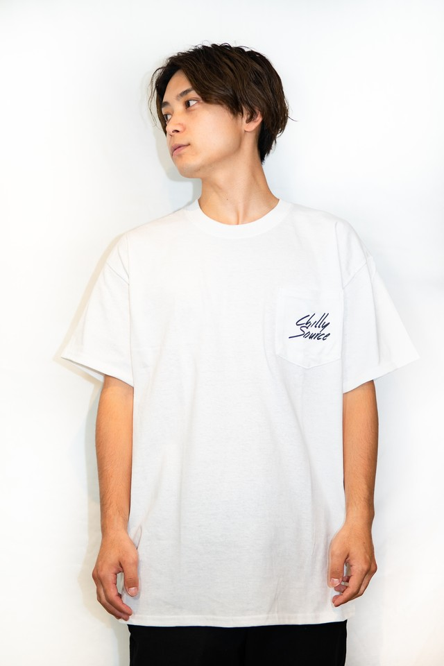 Chilly Source Logo Pocket Tee 【White】