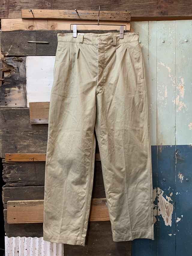 60's FRENCH ARMY M-52 TROUSERS 35