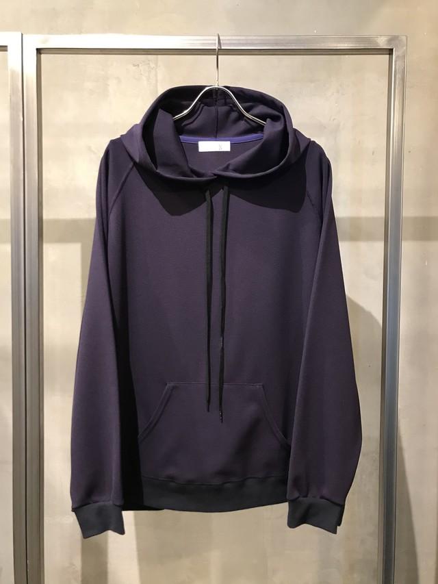 T/f ponte fabric pullover hoodie - deep sea
