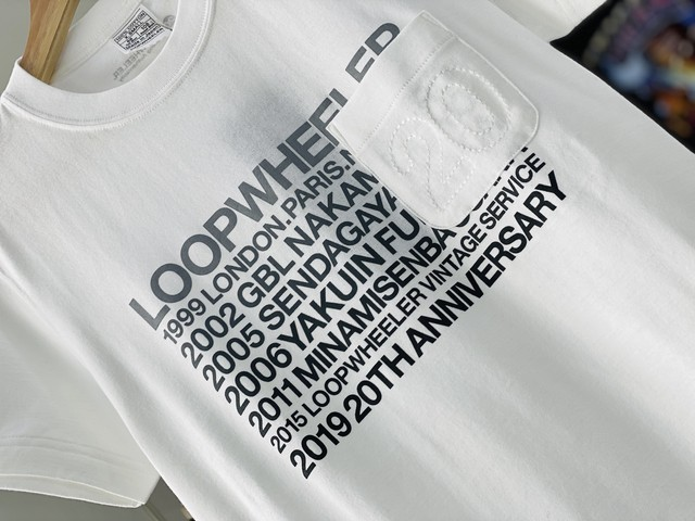 LOOPWHEELER 20TH POCKET TEE WHITE XS 20JG7513