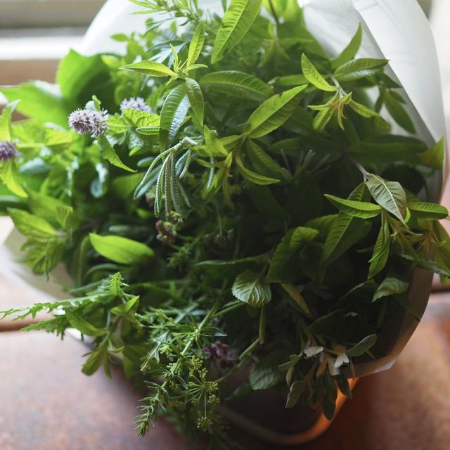 organic herb bouquet