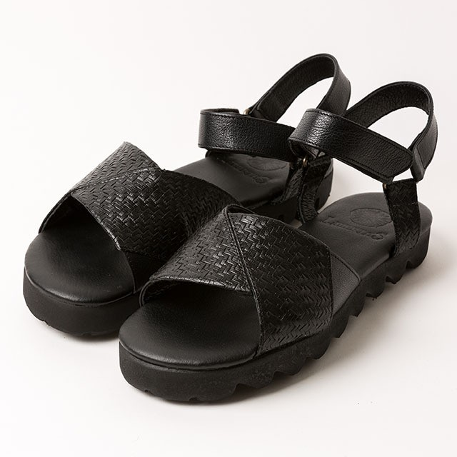 goat leather sandals/BLK/LIBERTAS【即納】