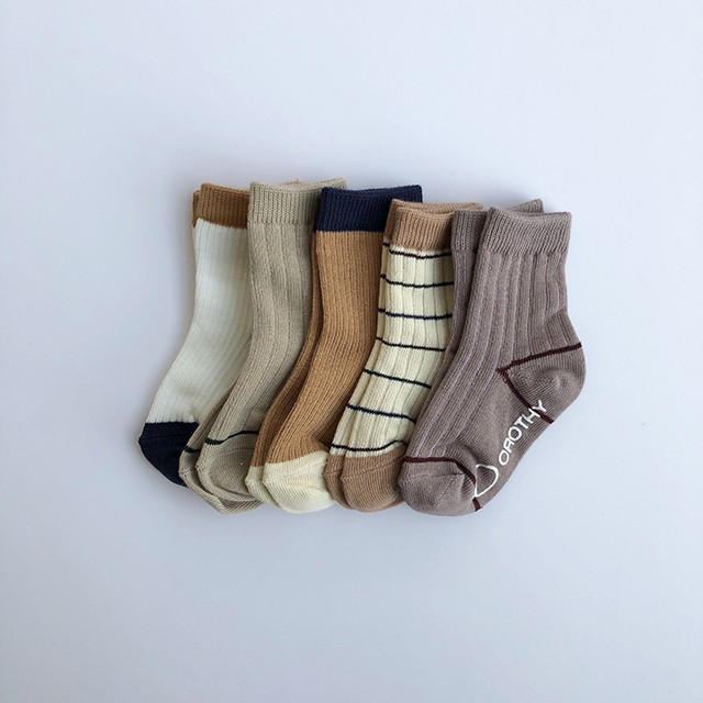 (即納) basic socks 5set assort (ソックスセット) : CH732YMX9021938102