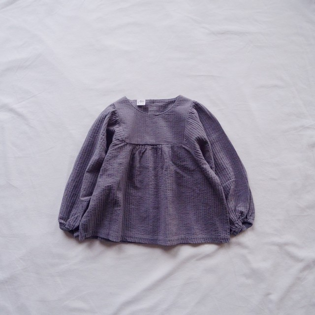 Pullover blouse (gray)