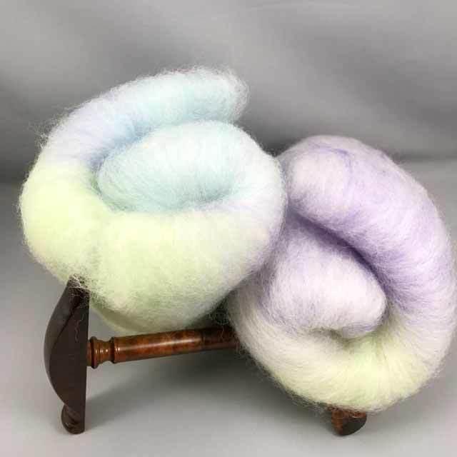 OGY8) 5色段染め メリノスライパー 手染め羊毛(送料込)