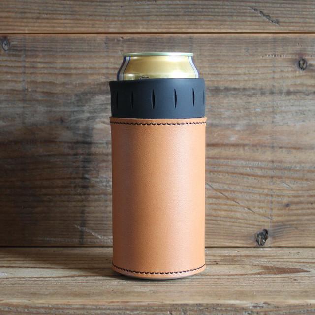 What will be will be サーモス THERMOS 保冷缶 ホルダー レザー カバー 500ml  ハンドメイド レザー 本皮 アウトドア wb0054