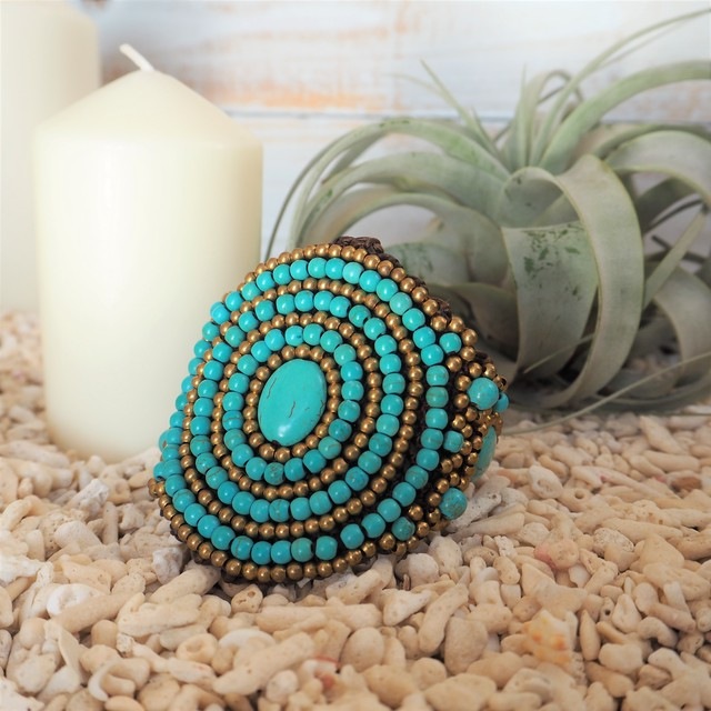 Spiral Turquoise Bangle《BLUE》