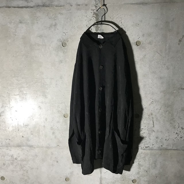 [used] rayon black shirt