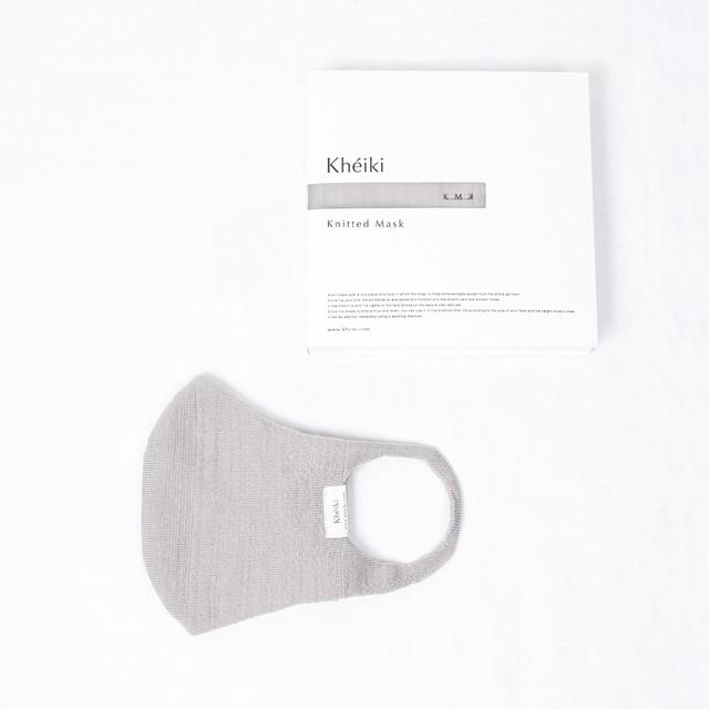 Knitted Mask 2pcs Set / KMK / Mercerized Long Staple Cotton / #Pale Gray