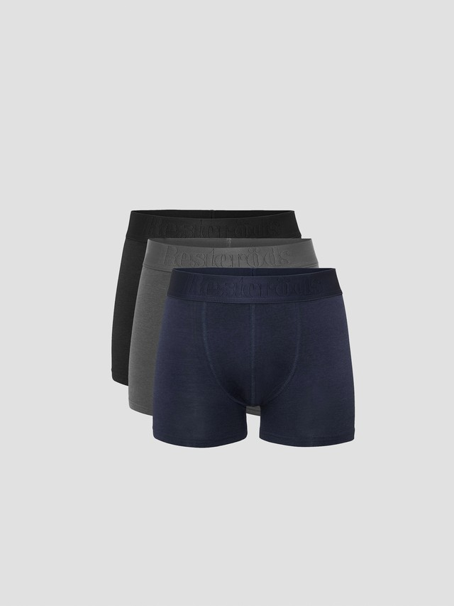 Resterods Bamboo Boxer Shorts 3P Multi 7934-49-49